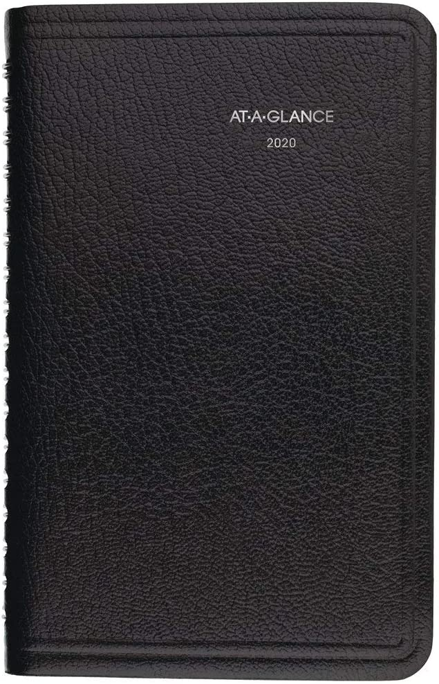 "AT-A-GLANCE 2020 Weekly Pocket Appointment Book/Planner, DayMinder, 3-1/2"" x 6"", Pocket, Black (G25000), (Model: G2500020)"