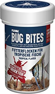 Fluval Bug Bites Tropical Fish Food, Flakes for Small to Medium Sized Fish, 0.63 oz., A7330, Brown