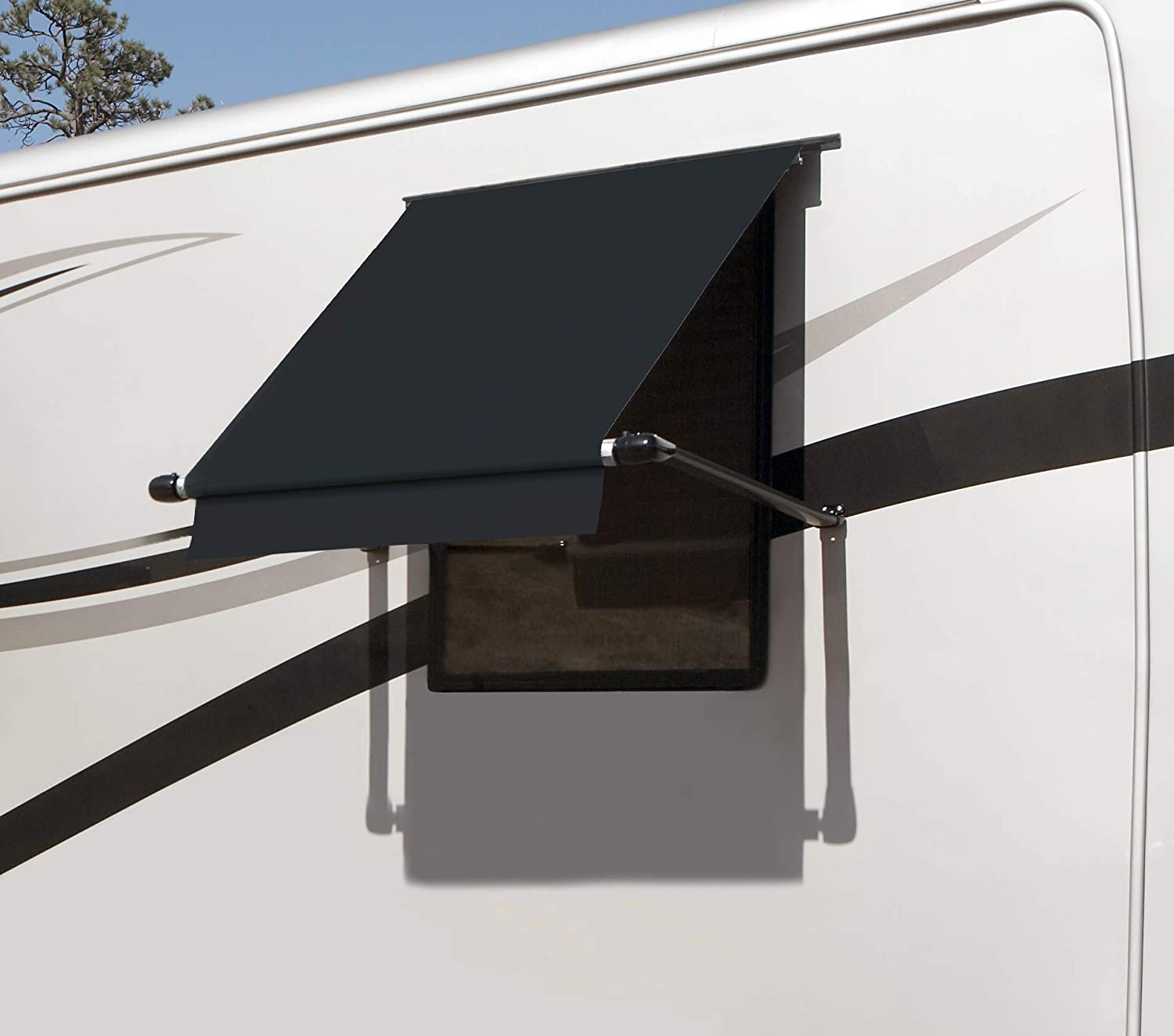Amazon Com Carefree Wg0504e4eeb Simply Shade Rv Window Awning Black Vinyl 5 60 Automotive
