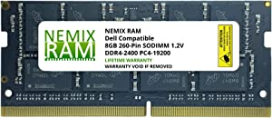 NEMIX RAM 8GB DDR4-2400 PC4-19200 Replacement for DELL SNPMKYF9C/8G A9210967