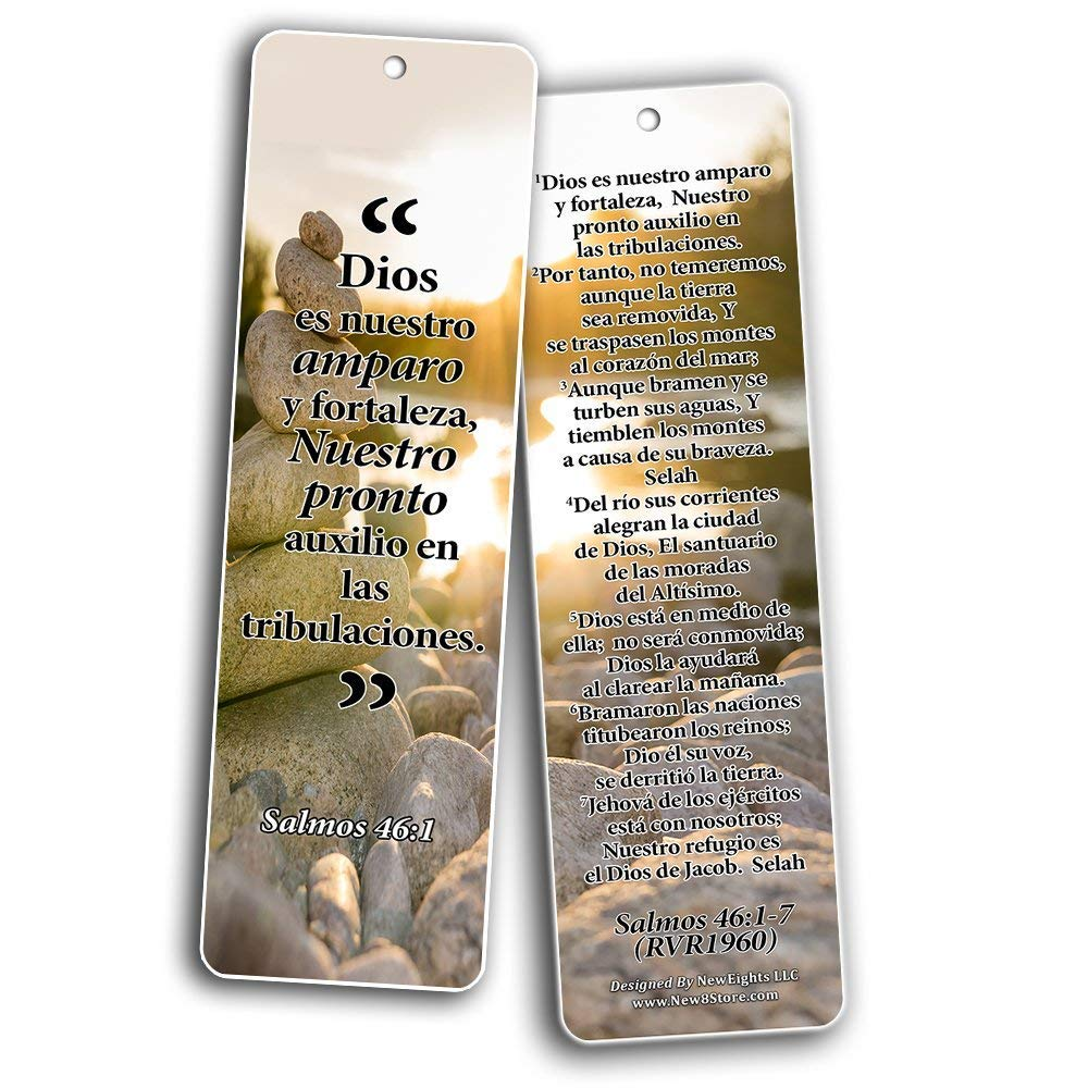 Spanish Bookmarks Cards (60-Pack)- Popular Inspirational Holy Scriptures - War Room Decor by NewEights (Image #4)