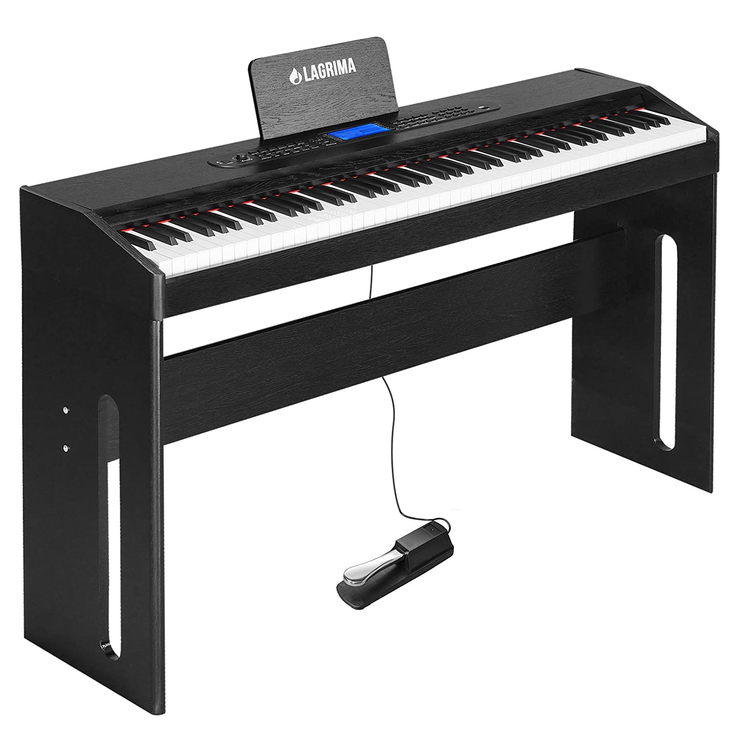 Lagrima Digital Piano 88 Key Electric Keyboard Yamaha Wiring Diagram For Beginner Adults W Music Stand Dust Cover Power Adapter 1 Pedal Board Instruction