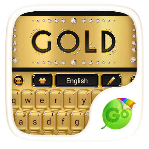 Gold Go Keyboard Theme  Emoji