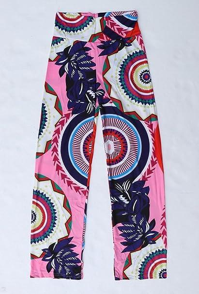 Bigood Pantalon à Fleur Femme Large Jambe Sport Yoga Plage Jogging Casual  Eté  Amazon.fr  Vêtements et accessoires ab2c0a68c545