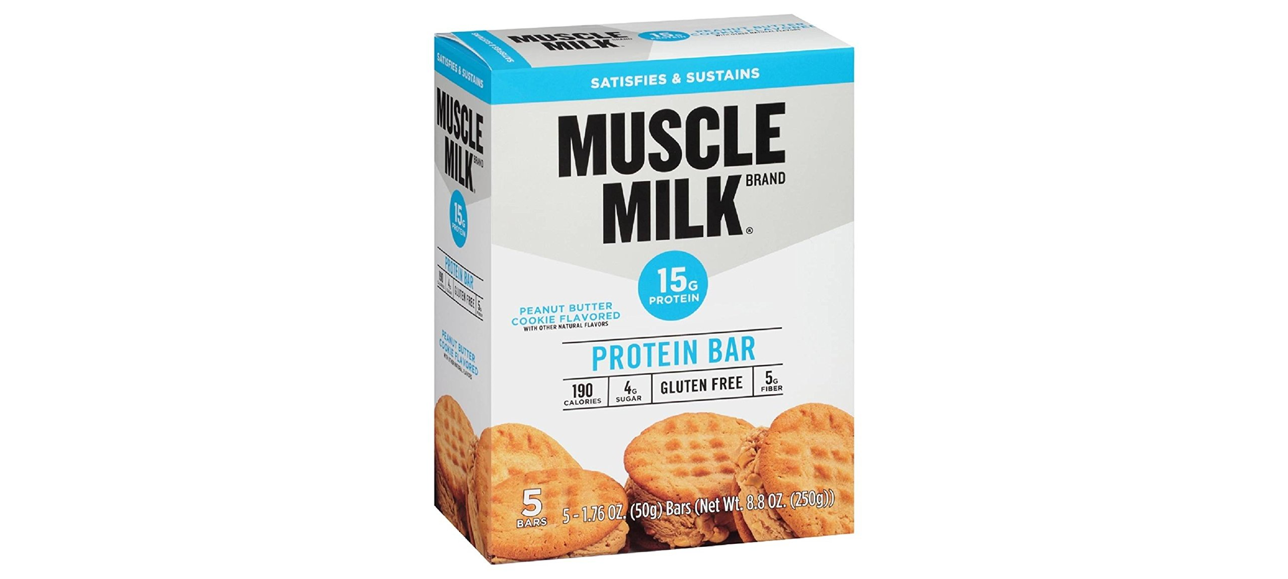 Muscle Milk Protein Bar, Peanut Butter Cookie, 5 Little Bars (Pack of 2)
