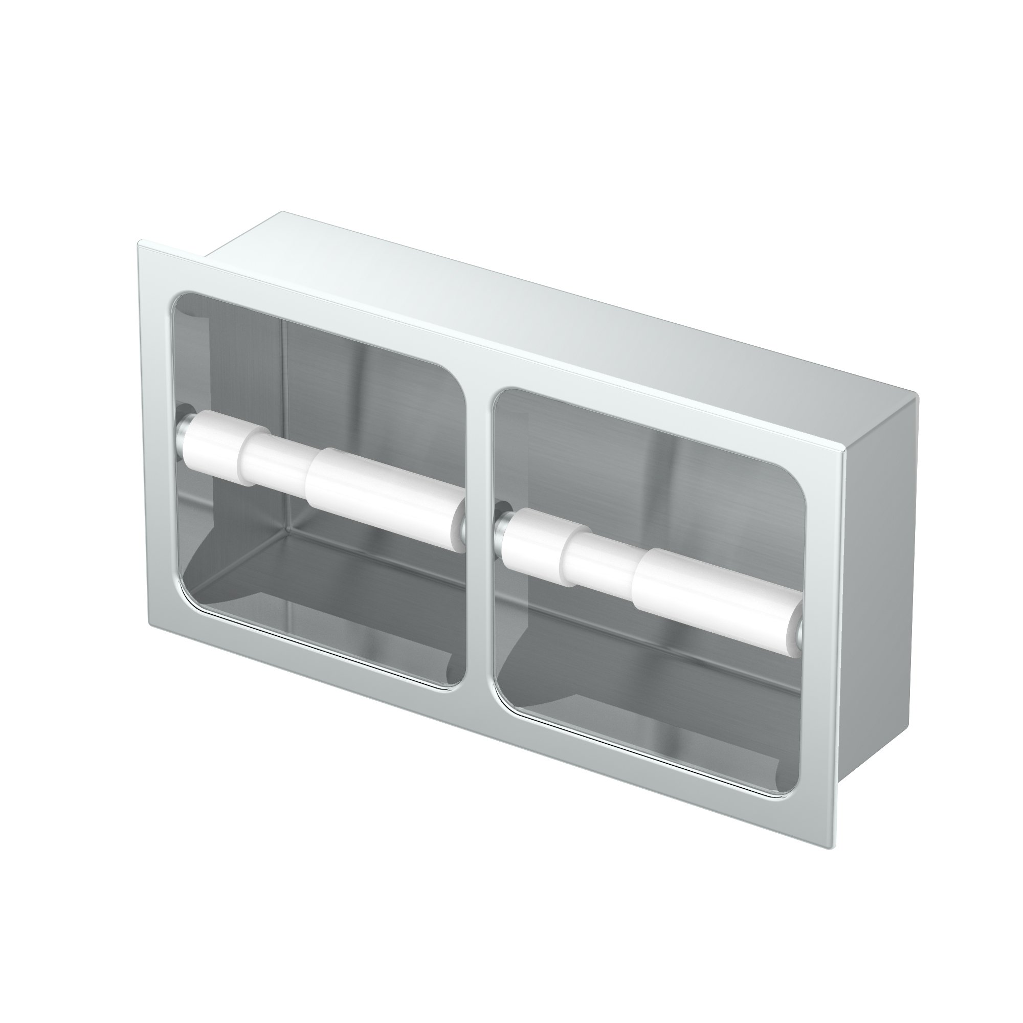 Gatco 782A Double Recessed Tissue Holder Chrome Doube Recessed Tissue Holder
