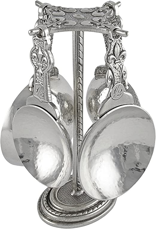 Crosby /& Taylor Honey Bee Pewter Measuring Spoons with Display Post