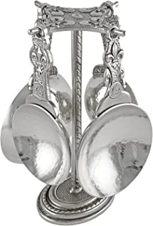 product image for Crosby & Taylor Fleur de Lys Pewter Measuring Cups with Display Post