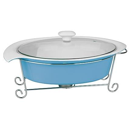Krauff Calentador de Platos gurme tamaño: 1.4 l, Color azul claro
