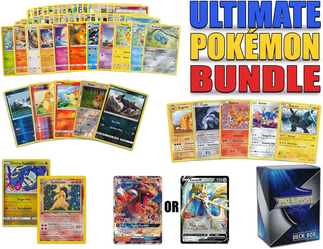 Rares 300x Holos /& GX Options- 100/% Genuine Cards Pokemon Cards Bundle 5x