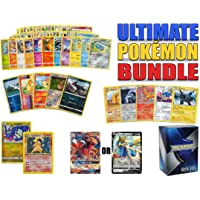 Ultimate Pokemon Cards Bundle 60+ cards= 50 cards + 5 foil cards, 5 rare cards, 2 holographic Rare cards (100 HP or…
