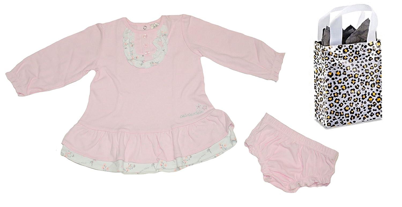 871cf353ef Amazon.com  Calvin Klein Baby Girls  Dress   Diaper Cover   Bag Gift Set   Clothing