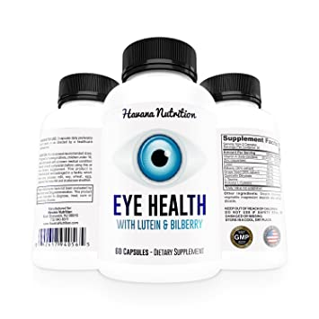 Eye Health with Lutein & Bilberry - Vitamins for Healthy Eyes - Vision Care