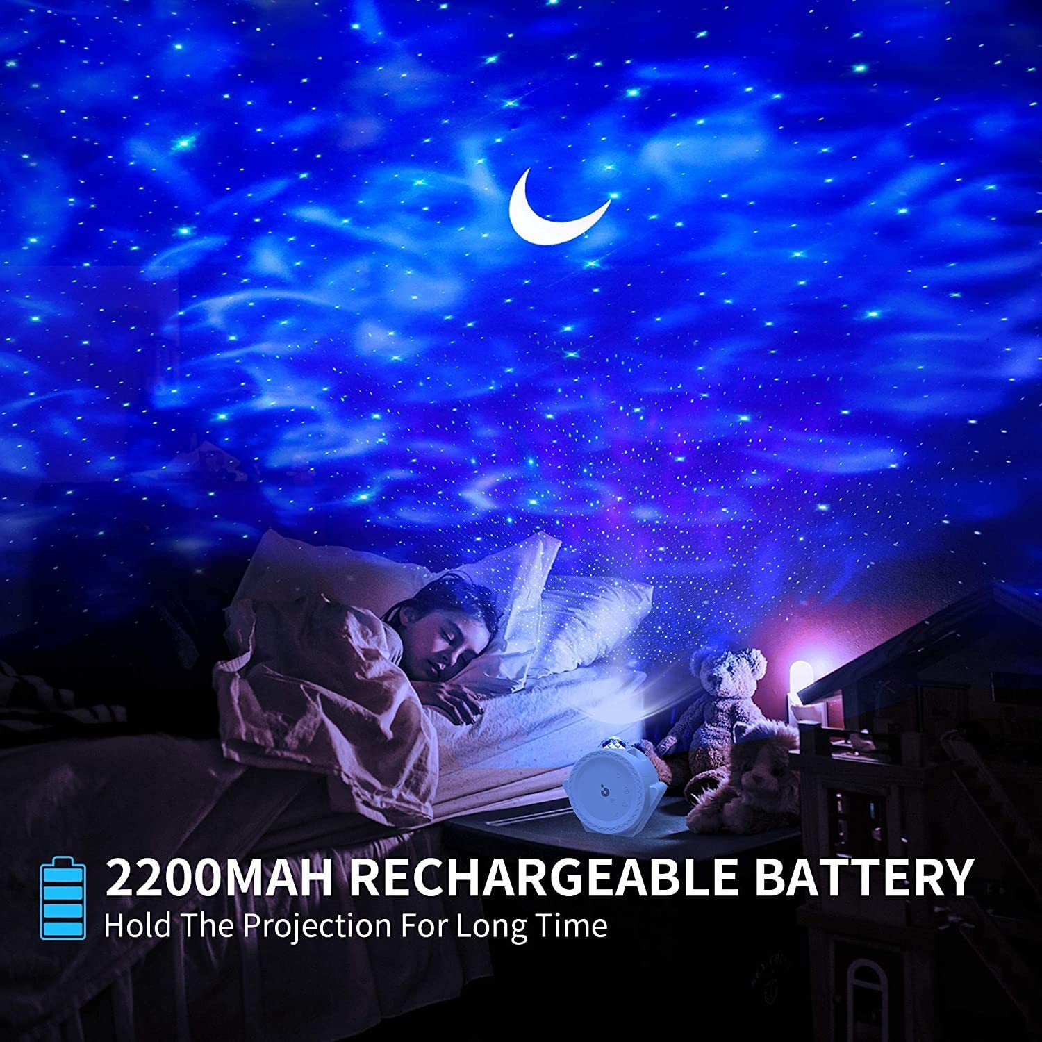 3 in 1 Galaxy Projector Light Decorative Moon Light with Sound Activated /& Touch Control LED Lamp for Bedroom//Game Rooms//Home Theatre//Night Light Ambiance Star Projector Night Light for Kids Black