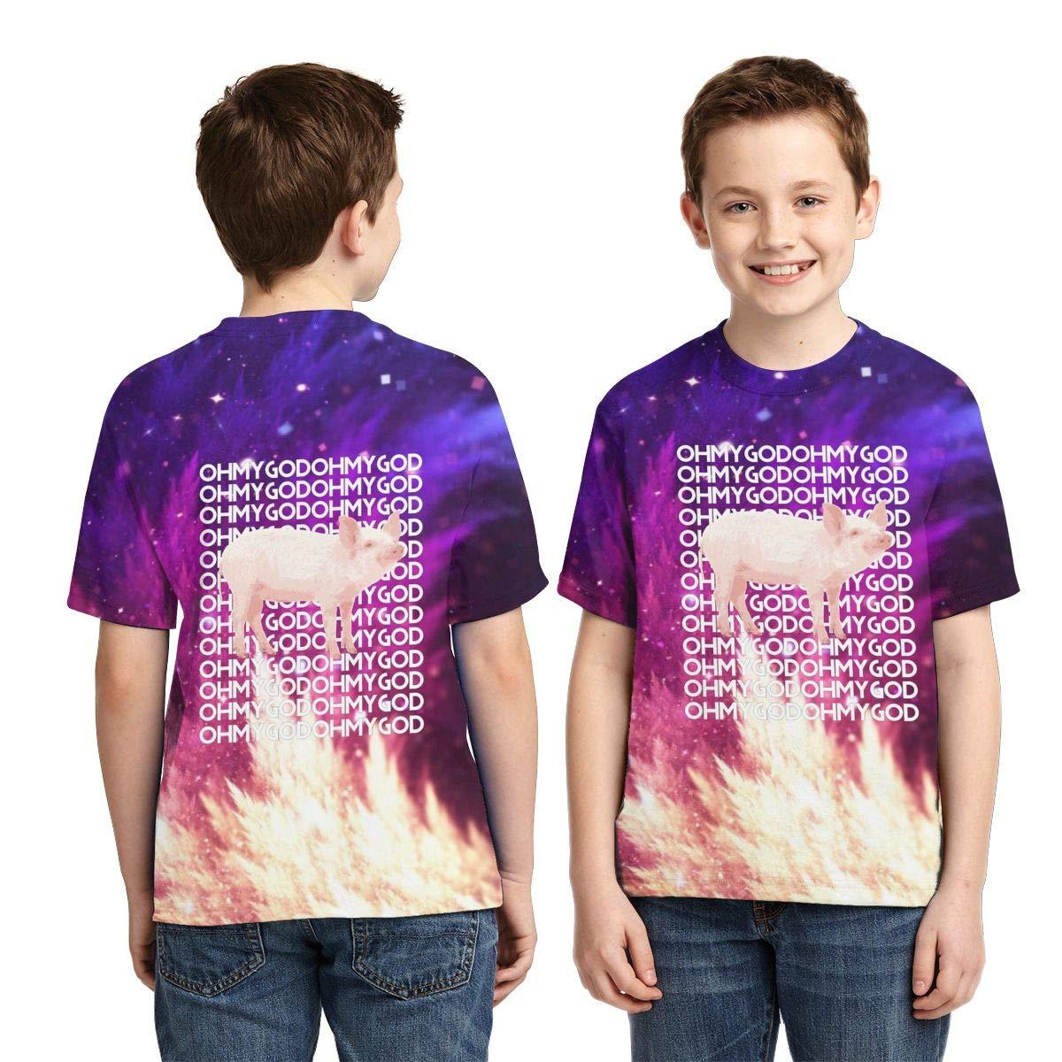 Zengqinglove Boys,Girls,Youth Oh My God Pig T Shirt