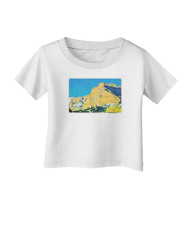 TooLoud Colorado Snowy MTNS Watercolor Infant T-Shirt