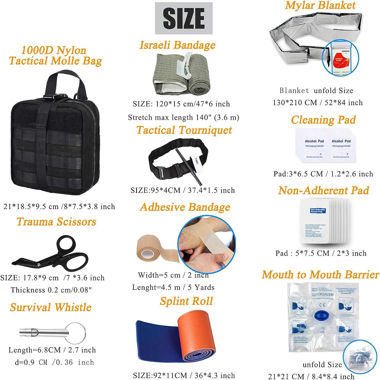 Warxin Mini set de primeros auxilios de 2 piezas multifunci/ón para actividades al aire libre deportes hogar camping senderismo solo bolsa vac/ía botiqu/ín de viaje bolsa de botiqu/ín de medicina