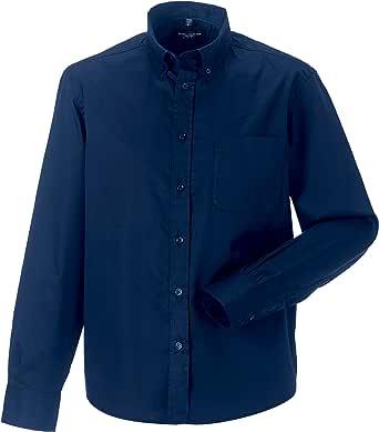 Russell Collection - Camisa Clasica de Manga Larga Modelo Classic Twill Hombre Caballero - Trabajo/Fiesta/Verano: Amazon.es: Ropa y accesorios