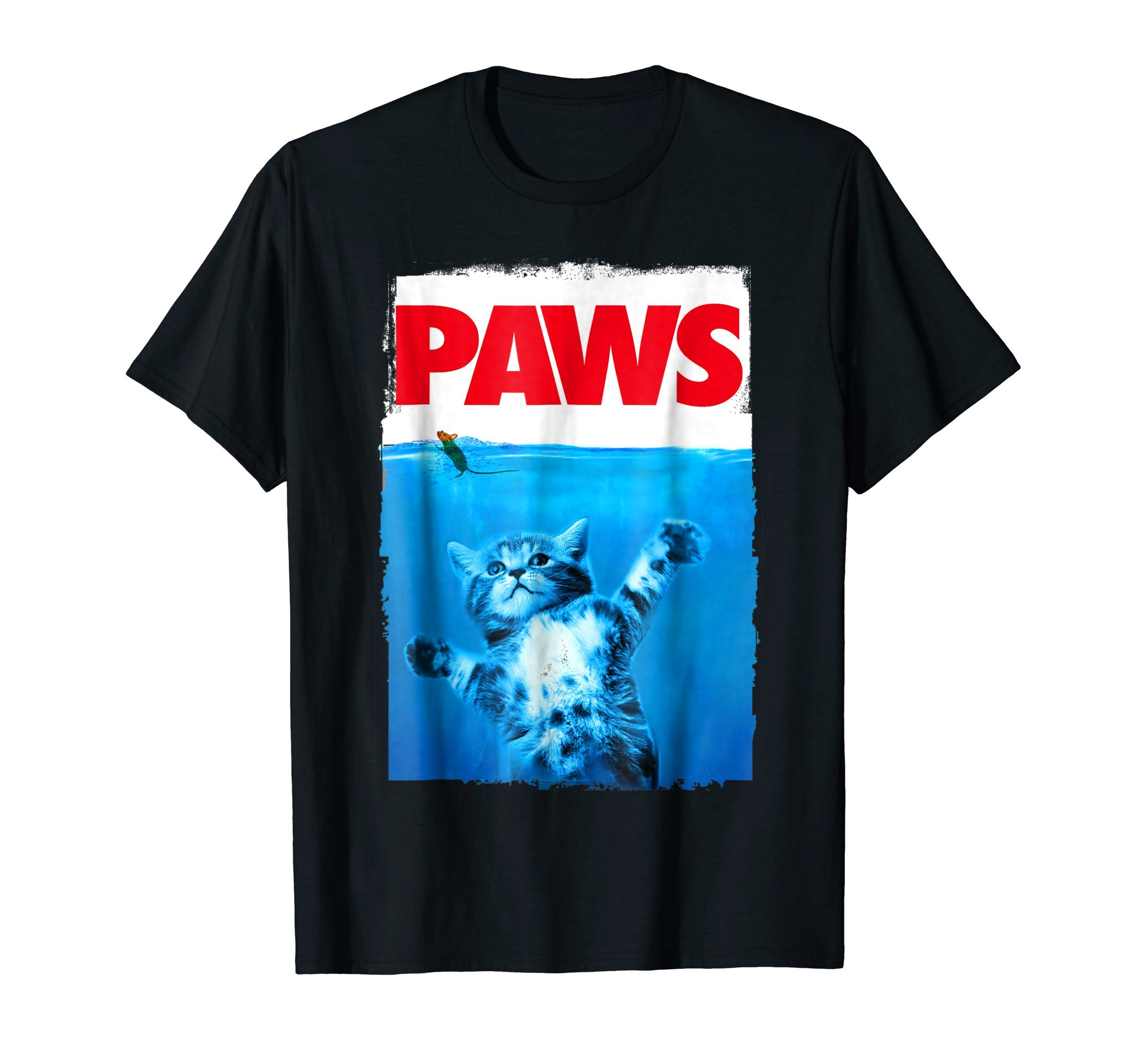 Paws Cat and Mouse T-shirt, Cute Funny Cat Lover Shirt