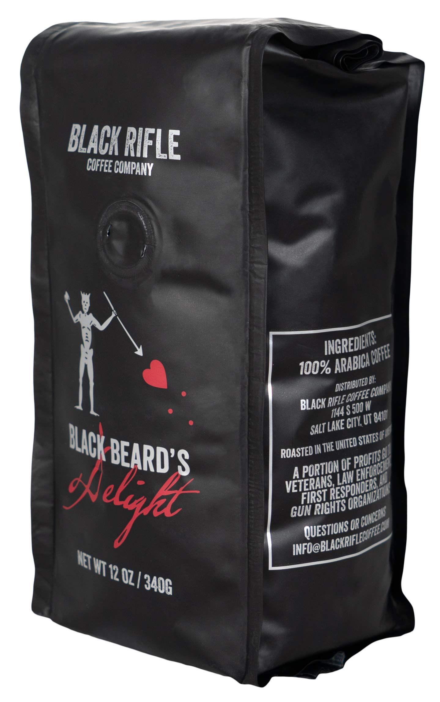 Black Rifle Coffee Company Blackbeard's Delight Coffee Dark Roast Ground, 12 Ounce Bag