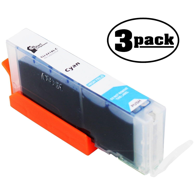 3 - Pack交換Canon Pixma mg6820ブラックワイヤレスプリンタインクカートリッジ – シアン互換Canon cli-271 XLシアンインクタンク(Canon 271 ) B073ZMKYD8