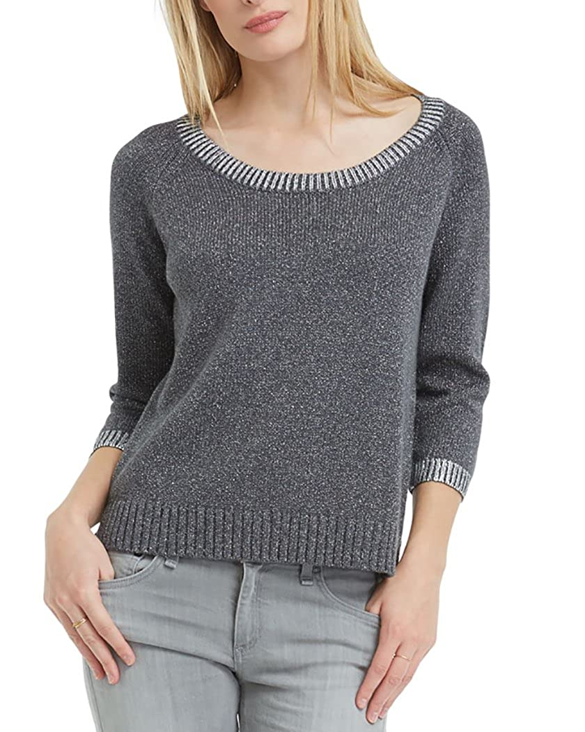 Three Dots Women's Paige Sweater Charcoal