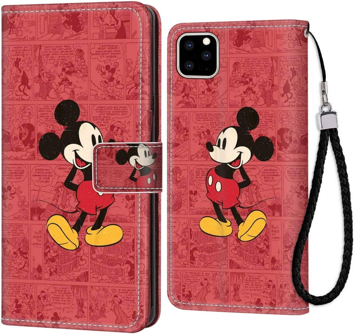 Wallet Case Compatible With Apple Iphone 11 Pro Max 6 5 Cartoon Classic Disney Icon Mickey Mouse Old Oldie Red Ringtones And Wallpapers Protective Amazon Ca Cell Phones Accessories
