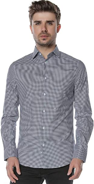 Guess BY Marciano Camicia con Colletto Francese Slim Fit 42