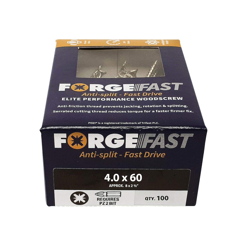 plateado Organizador de tornillos de madera FORFFP1000Y Forgefast Pozi compatible con Elite Performance Forgefix FORFFP6200Y color plateado