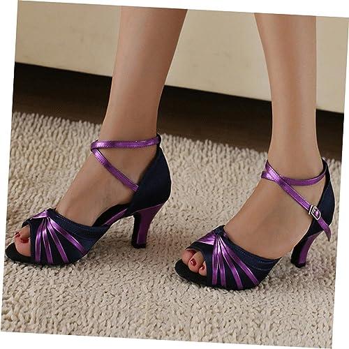 misu - Zapatillas de danza para mujer Morado morado, color Morado, talla 35.5