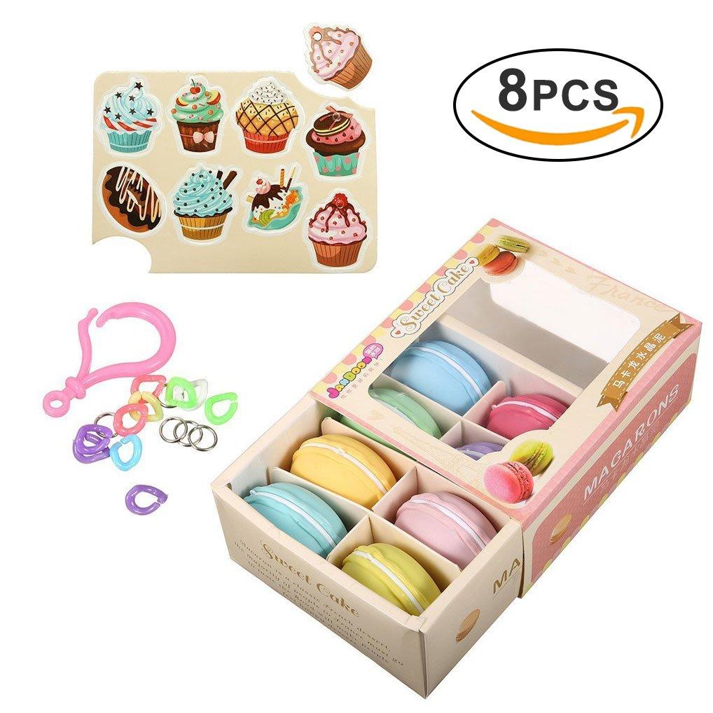 8pcs Macarons Slime Kit Yidaxing Kristall Schlamm Macarons Schleim