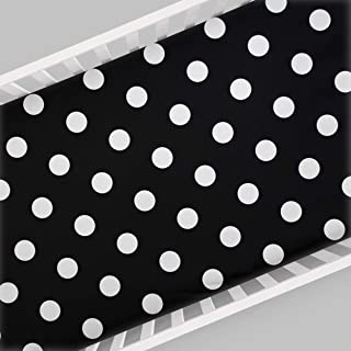 product image for Glenna Jean Apollo Crib Fitted Sheet, Black/White
