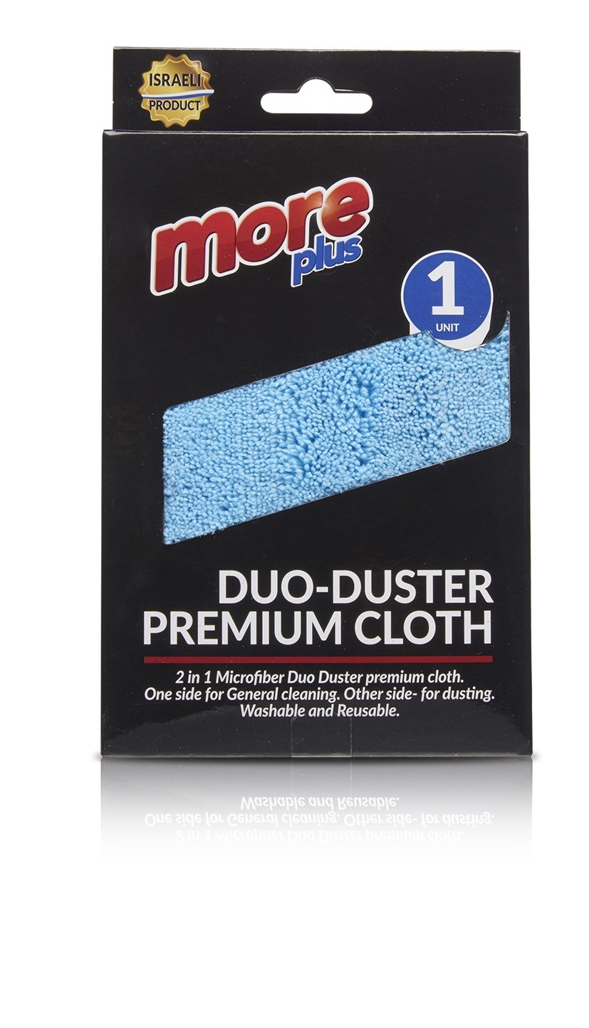 Duo-Duster Premium Cloth - Dual Action Scrubbing Cloths, Cleaning and Detailing Towels, Streak Free, Lint Free, Floor Cleaning, Scrubbing, Childcare Supplies, Dusting - 35x35 by Plastible (Pack of 6)