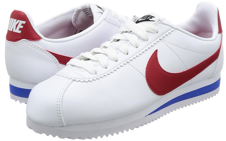 NIKE Damen Classic Cortez Leder Royal Laufschuhe, Weiß (Weiß/Varsity ROT-varsity Royal Leder 103) f950b0