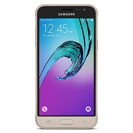 Amazon.com  Samsung Galaxy J3 (2016) - No Contract Phone - Gold ... a77c1248ce56