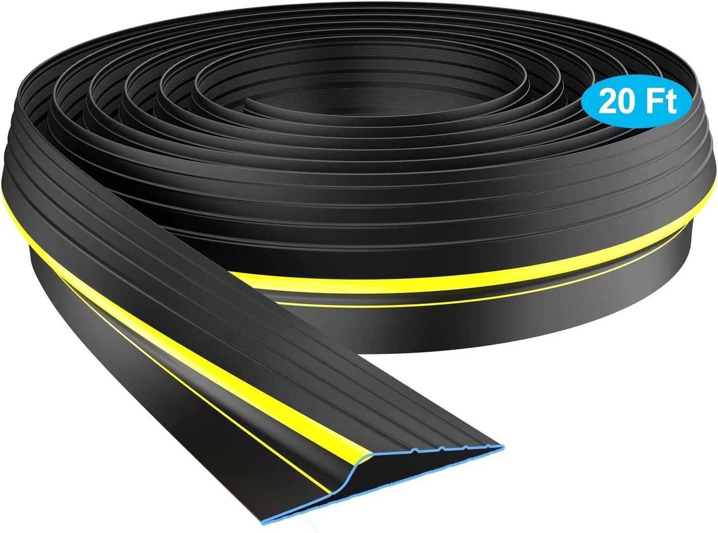universal garage door rubber weather threshold seal bottom seal 9 Foot with nail