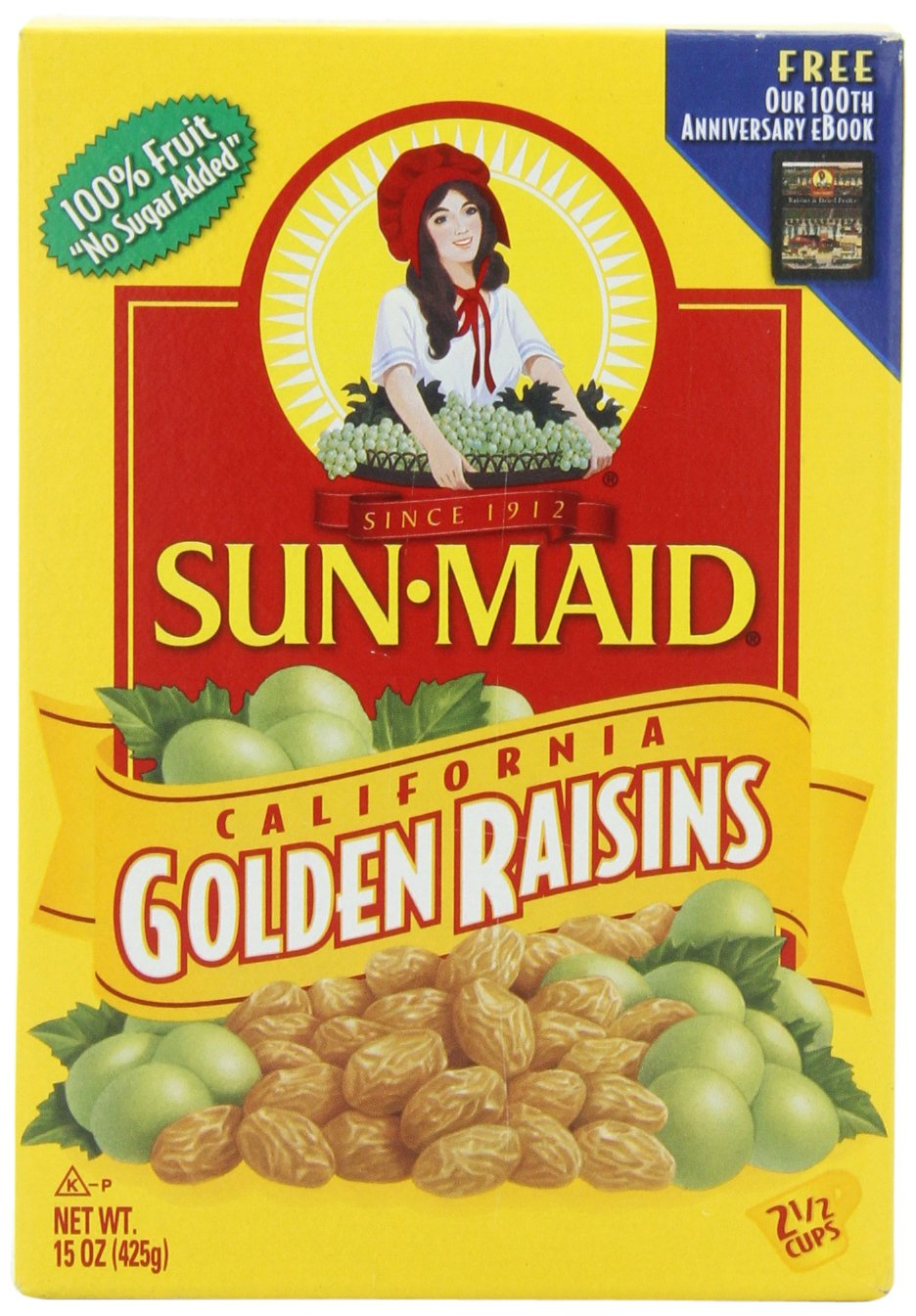 Sun Maid California Golden Raisins, 15-Ounce Boxes (Pack of 6)