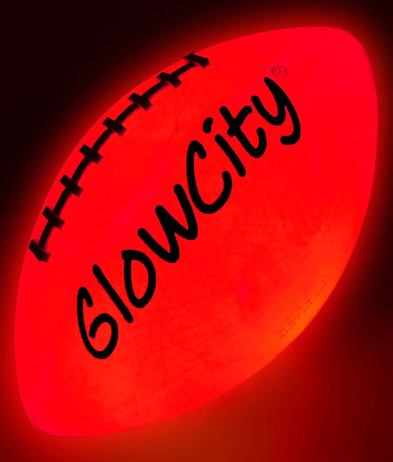 GlowCity Light Up Football-Official Size-High Bright LED Lights-Perfect Glow in The Dark Football-Extra Batteries Included