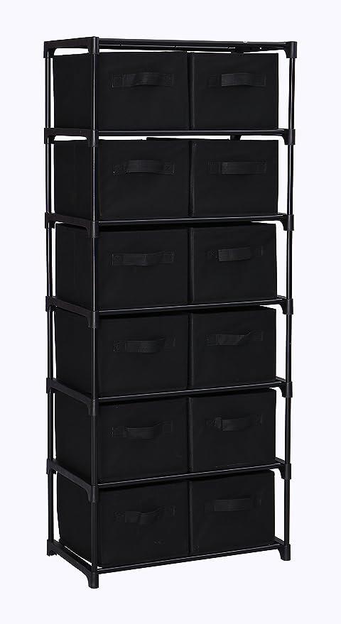 Mulsh estante de almacenamiento organizador de cajones Armario de almacenamiento unidades 12-drawer organizador con
