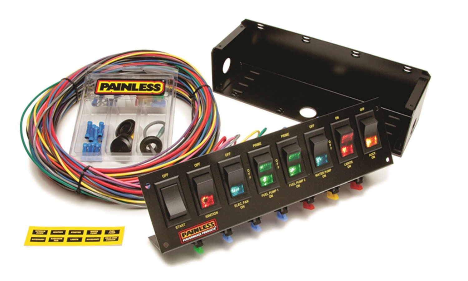 Painless Wiring 50303 Race Car 8 Switch Panel by Painless