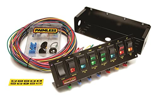 Amazon Painless Wiring 50303 Race Car 8 Switch Panel Automotiverhamazon: Fuse Block On Painless Wire Harness Switch Panel At Elf-jo.com