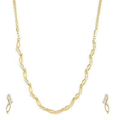 Buy Estelle Gold plated Cz American DaimondADSimple Fancy Floral