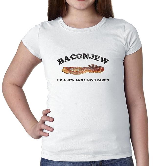 baconjew I m un judío y I Love Bacon juventud camiseta de algodón de niña