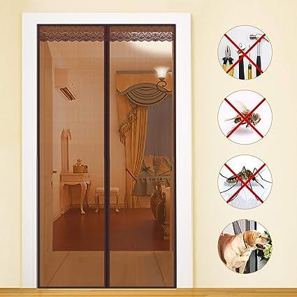 Bianco COAOC Zanzariera Magnetica 70x240cm Zanzariera Magnetica Chiusura Automatica per Ingresso,Porte Cortili