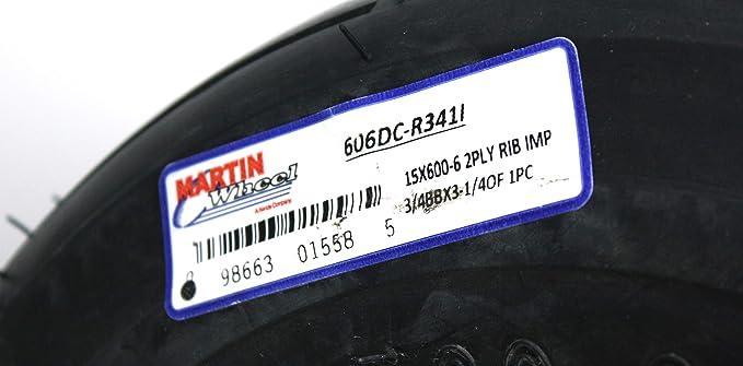 "3//4/"" Sealed Bearing 15x6.00-6 Kenda K401 Multi Rib Tire /& Wheel Assembly"