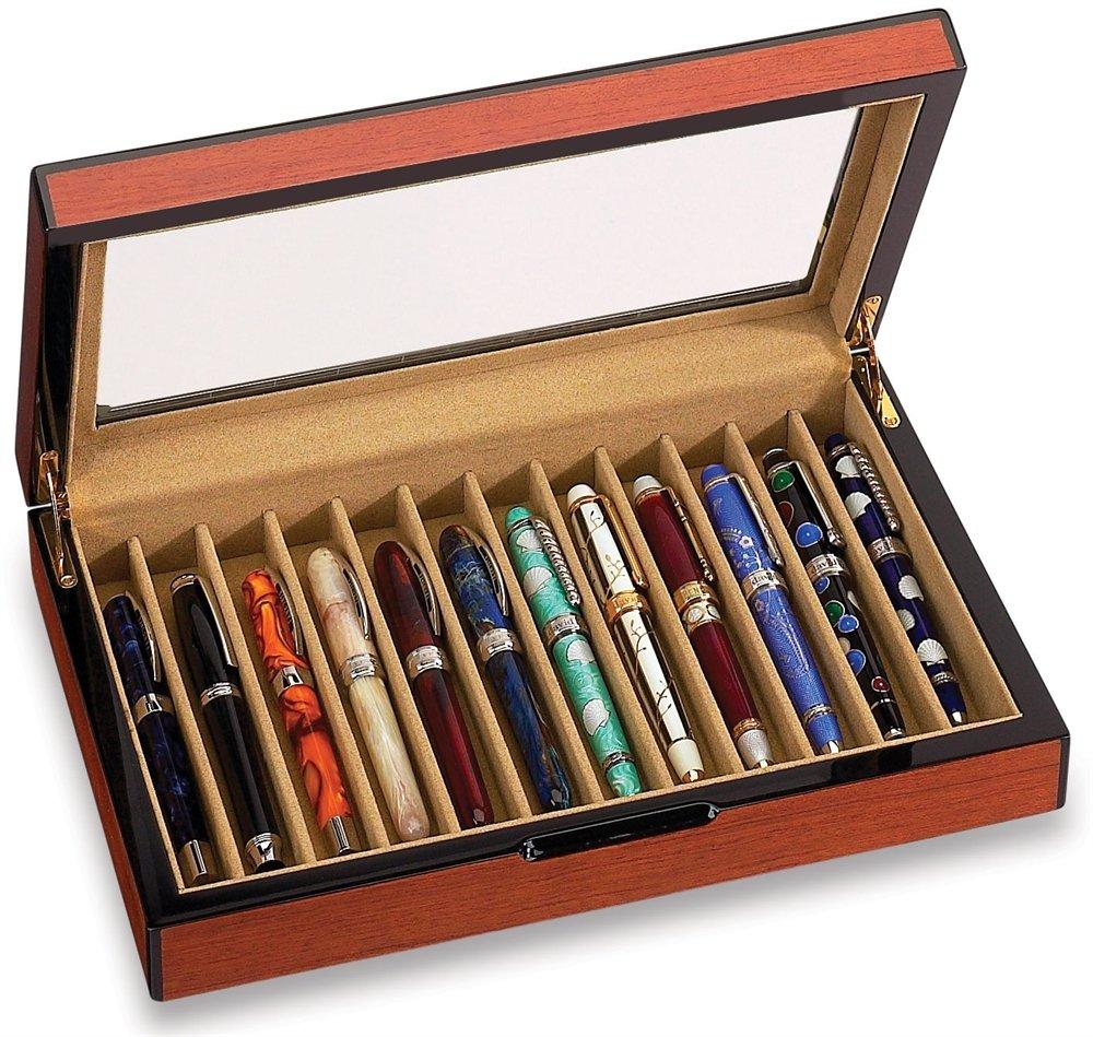 Vox Luxury Rosewood Finish 12 Pen Case