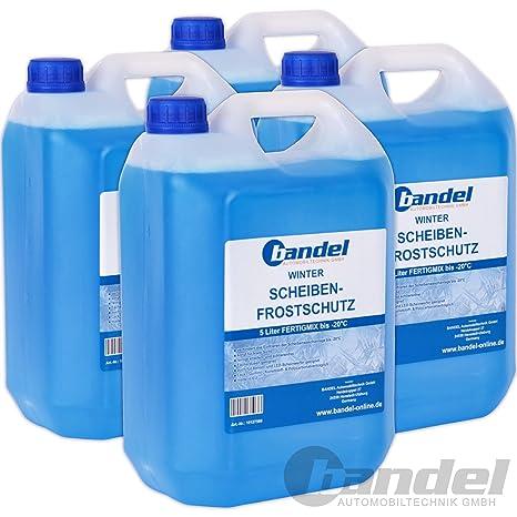 Pack de 4 botellas de 5 litros de protección anticongelante para las lunas, para el