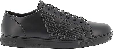 Shoes Black Leather Logo Sneaker FW 19