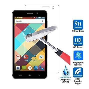 LG Q6 Protector de pantalla, KuGi LG Q6 Cristal Templado Protector ...