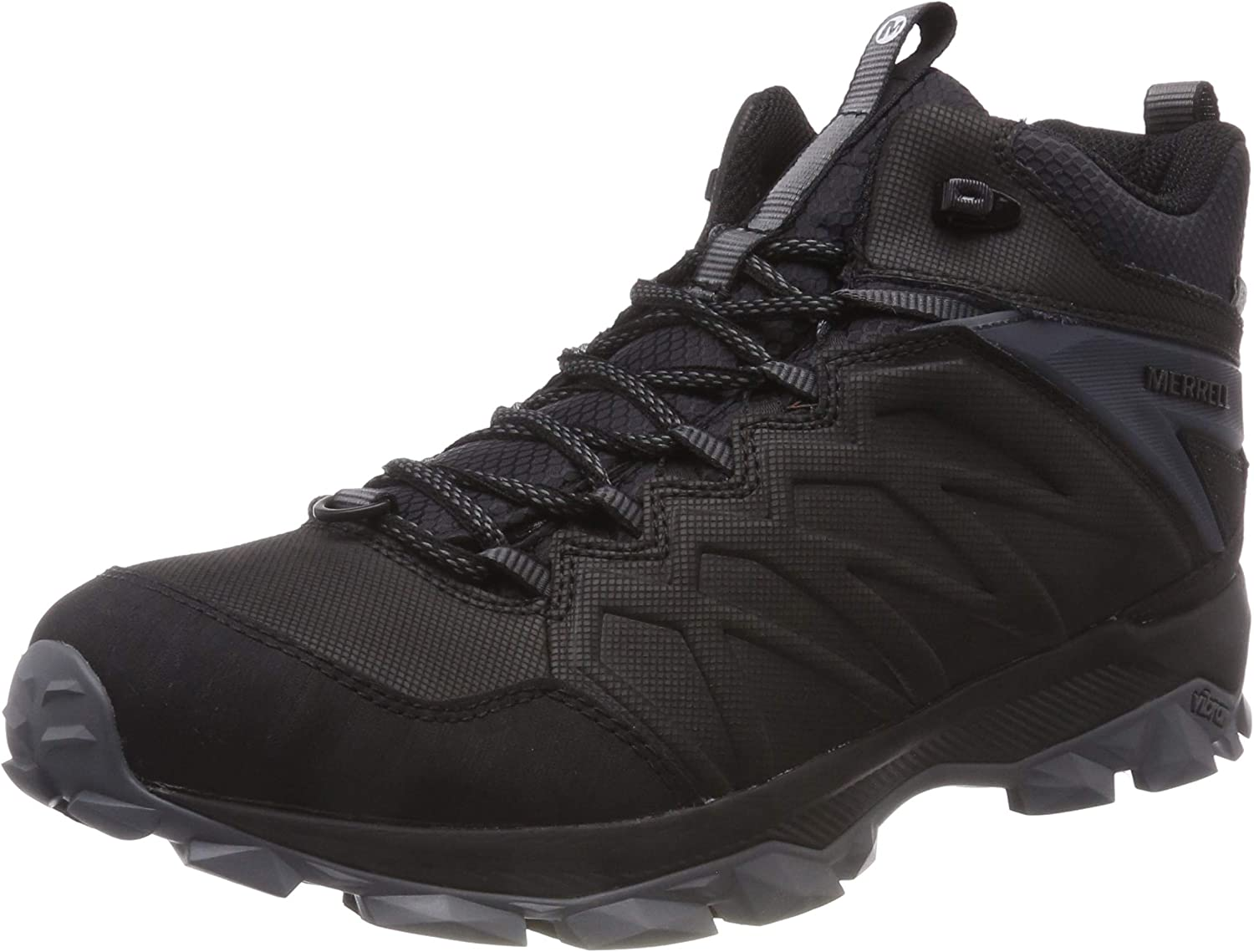 Merrell Mens Thermo Freeze Mid Black Waterproof Black Black Boot